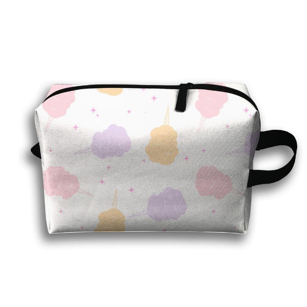 Cotton Candy Pattern Storage Bag Portable Travel Makeup Bag Travel Bag Cosmetic Case