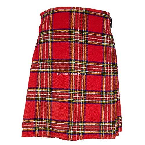 "Best Kilts Men's Traditional Scottish 5 Yard Royal Stewart Tartan Kilt 34""-36"""