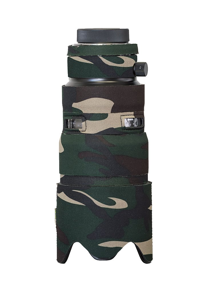 LensCoat Camera Cover Sigma 50-100mm F1.8 DC HSM Art, Camouflage Neoprene Camera Lens Protection Sleeve (Forest Green Camo) lenscoat