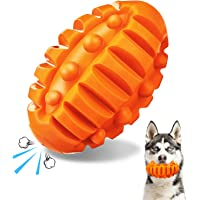 FOCUSPET Squeaky Dog Toys for Aggressive Chewers Large Breed Pet Chew Toys Dog Almost Indestructible Durable Squeaky…