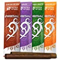 Primal Herbal Wraps Variety Pack, Tobacco & Nicotine Free (12 Total Wraps, 6 Packs of 2) + Beamer Smoke Sticker. Use with Herbal Blends. Compare to Rolling Paper by Primal, Beamer Smoke