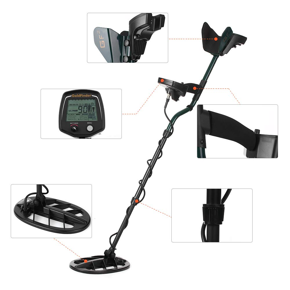 Amazon.com: Metal Detector, KKmoon Professional Underground Metal Detector High Sensitivity Under Ground Gold Silver Detector Metal Finder Jewelry Digger ...