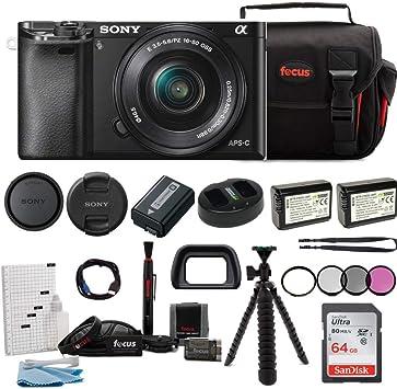 Amazon.com: Cámara sin espejo Sony Alpha a6000 con lente de ...