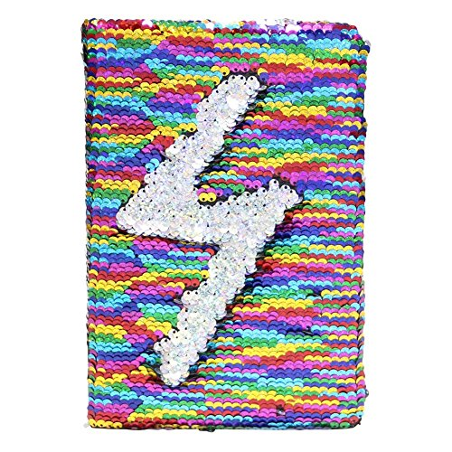 FIGHTA Reversible Sequin Notebook Magic Sequin Journal Office