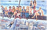 Hollywood celebrity girls on New York scaffold - Mint and never mounted stamp sheet