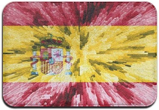Felpudo de 23,6 x 15,7 Pulgadas Alfombra con tapete para la Puerta de Entrada con Respaldo Antideslizante Bandera de España Interior de Felpudo para Cocina, baño, Mascota: Amazon.es: Hogar