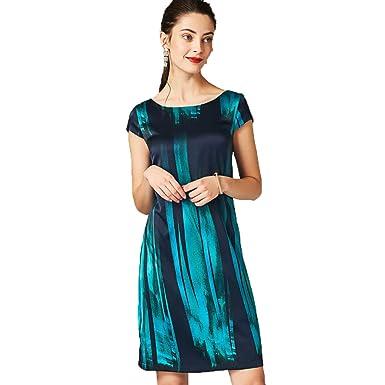 Cotyledon Womens Plus Size Dresses Slim Fit Elegant Silk Dress At