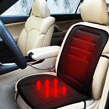 Queta Sitzheizung Auto Beheizbare Sitzauflage Grau 12V Zigarettenanz/ünder Einstellbar Heizstufe Universal Beheizbar Sitzkissen