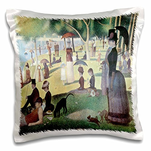 3dRose pc_127363_1 A Sunday Afternoon on The Island of La Grande Jatte x Georges-Pierre Seurat Pillow Case, 16