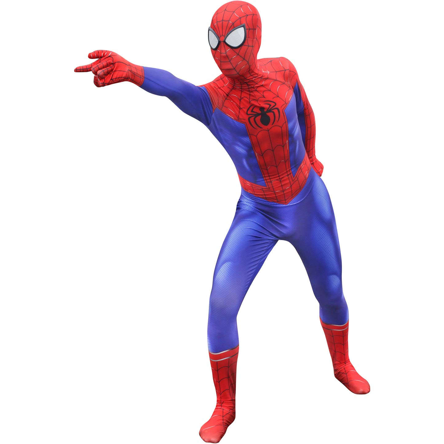 Spiderman Costume Spider-Man Jumpsuit Peter Parker Cosplay Outfit Halloween Prop