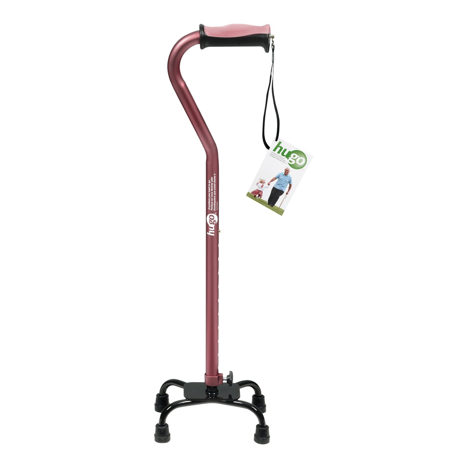 Hugo Adjustable Quad Cane for Right - 73.3KB