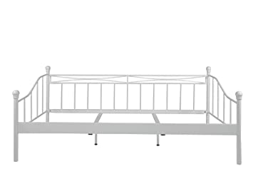 Metallbett 90x200 weiß  AC Design Furniture 44925 Metallbett Björn für 90 x 200 cm ...