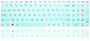 MMDW English Silicone Keyboard Cover for HP Envy x360 15.6''Series /2020 2019 Pavilion 15/Pavilion x360 15.6