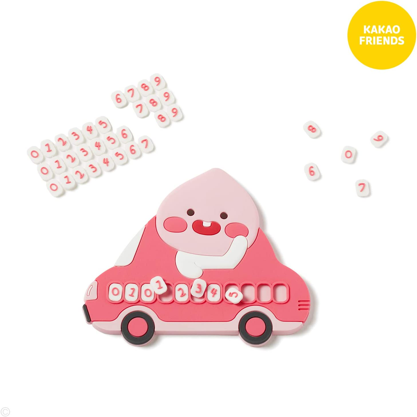 Little Friends Car Temporary Parking Phone Number Plate for Automotive KAKAO FRIENDS Official Little Apeach