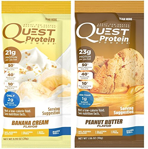 Quest Nutrition Quest Protein FZjJiY Powder, Banana Cream/Peanut Butter 24 Count (12 of Each) by Quest Nutrition