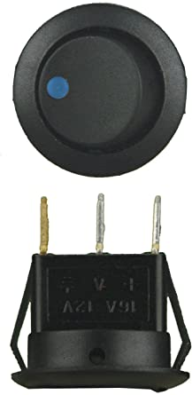 IBRRSB Metra Electronics Corp Install Bay Round Rocker Switch Blue Led With No Leads 5 Bag
