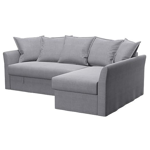 Soferia IKEA HOLMSUND corner sofa cover Elegance Light Grey