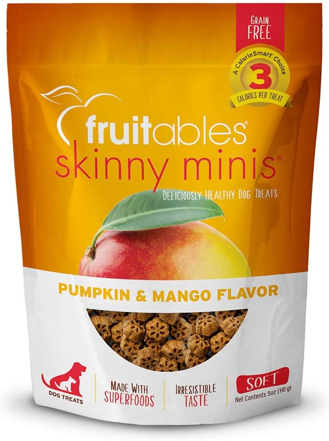 Fruitables Pumpkin & Mango Crunchy Dog Treats, 1-7-Ounce Pouch