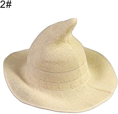 HshDUti Fashion Women Knitting Solid Color Foldable UV Protection Fisherman Hat Witch Pointed Folding Basin Bucket Cap