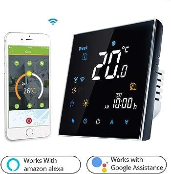 Snowsy WiFi Inteligente Termostato 16A LCD Pantalla Táctil Digital ...