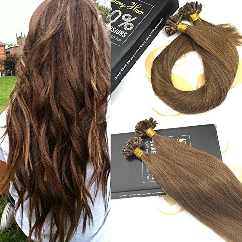 sunny-remy-u-tip-fusion-human-hair-extensions-22inch-8-light-brown-pre-bonded-keratin-hair-extension