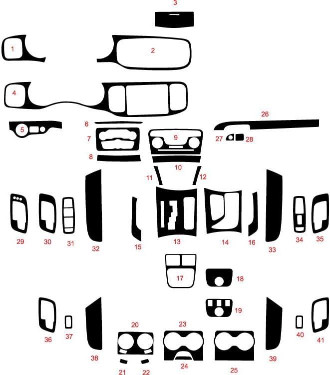 Carbon Fiber 4D Rvinyl Rdash Dash Kit Decal Trim for Dodge Charger 2011-2015 Black
