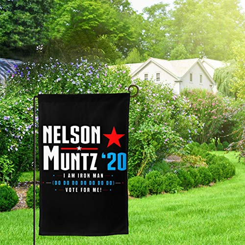 Vote Nelson Muntz 2020 Simpsons Election Polyester House Flag Decorative Garden Flag Yard Banner Garden Flags (Two-sided) -