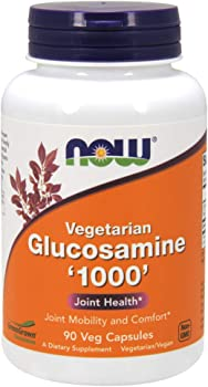 NOW Supplements, Glucosamine 1000 Vegetarian, 90 Veg Capsules