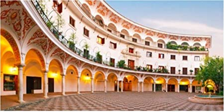 ZZXSY Puzles Adultos 1000 Piezas Panorama De La Pintoresca Plaza del Cabildo En La Mañana Sevilla España Apto: Amazon.es: Hogar