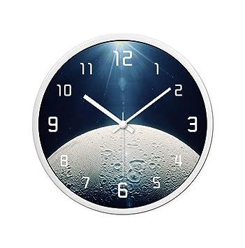 ZYHua Reloj de Pared con Perspectiva del Planeta, (30-35 CM) El Pasillo de Sala de ...
