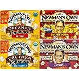 Newman's Own Microwave Popcorn Variety Pack-Natural, Butter, Light Butter, Butter Boom 10.5oz Each (Pack of 4)