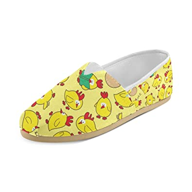 Yellow Chicks Reading Canvas Slip-on Loafer For Men