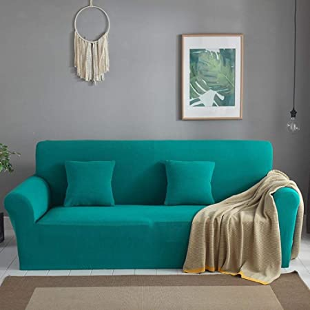 Fundas De Sofa Anti Gatos Funda De Sofá Engrosamiento Todo Incluido Tejido Antideslizante Elástico Color Sólido Tela Vintage Combinación De Cuero Sofá Protección Contra El Polvo Cubierta Azul Pas: Amazon.es: Hogar