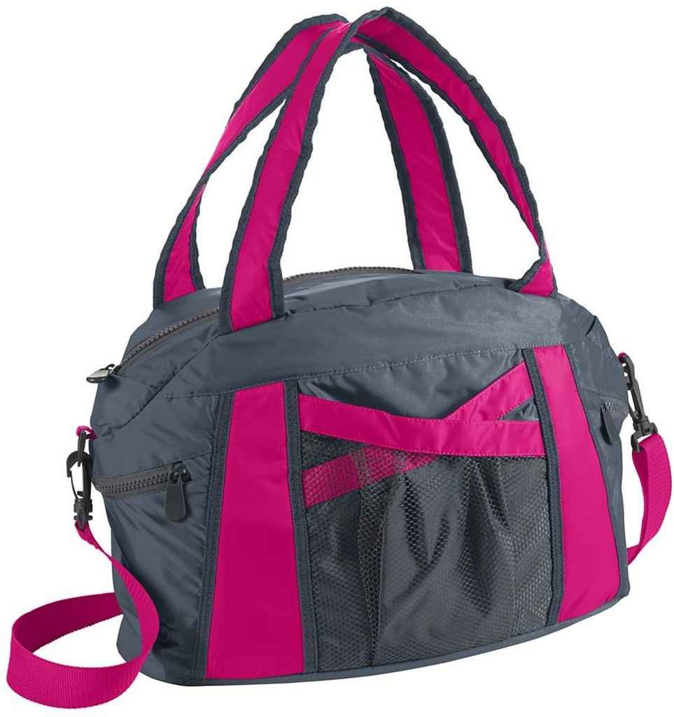 新品 Augusta Graphite/Power Sportswear成形ファスナー付きダッフルバッグ B00S3KX89E Graphite/Power Pink Pink OS OS Graphite Pink/Power Pink, 久井高原のスモークチキン小屋:cfc220c1 --- fenixevent.ee