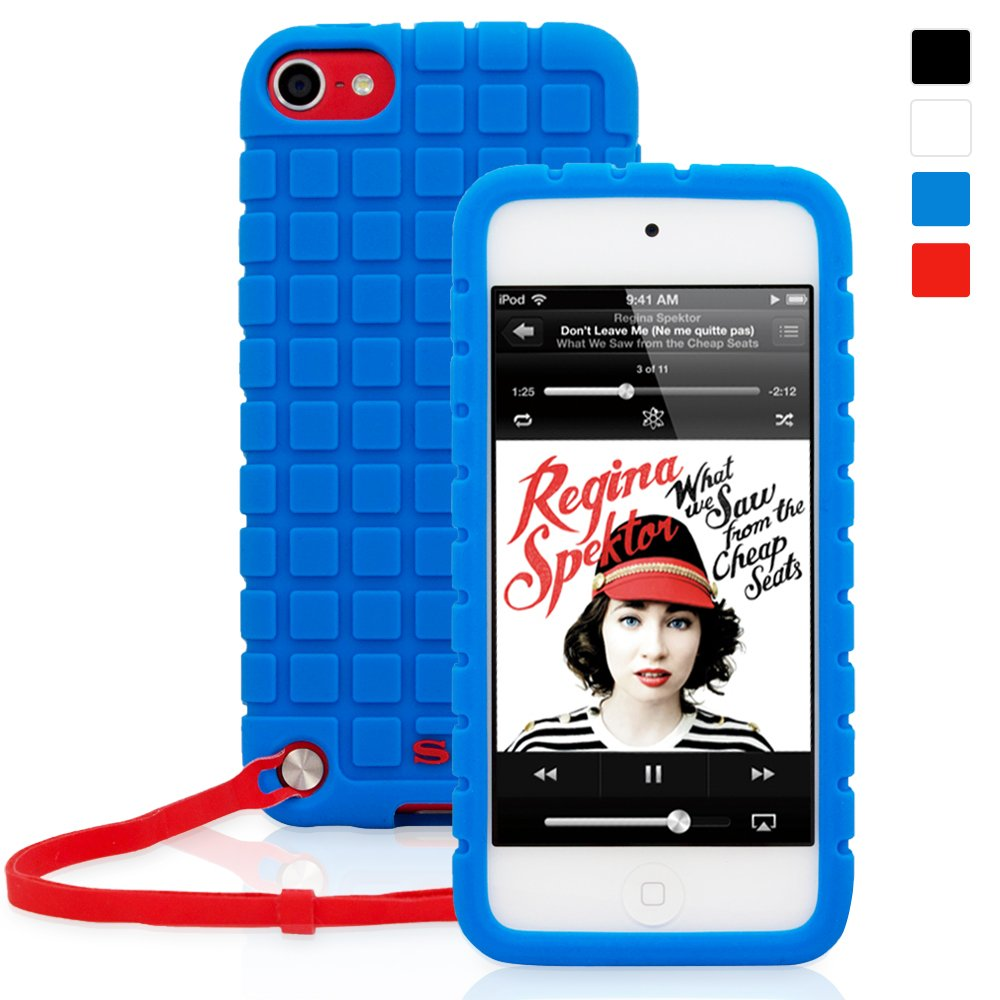 Snugg iPod Touch 6G/5G Rubber Case & (Blue Silicone) for iPod Touch (5th/6th Generation)