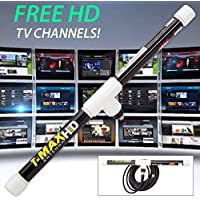 Magic Stick TV 2 - Digital TV Antenna Reception Signal Booster with 20ft Cable, Easy to Install, Up to 80 Mile Range