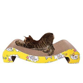 Urase Kratz Juguete Rascador para Gatos Tabla M Tipo A Los Arañazos Matte con Gato Menta Favoritos cartón arañazos Kratz Muebles Rascador Árbol para Gatos: ...