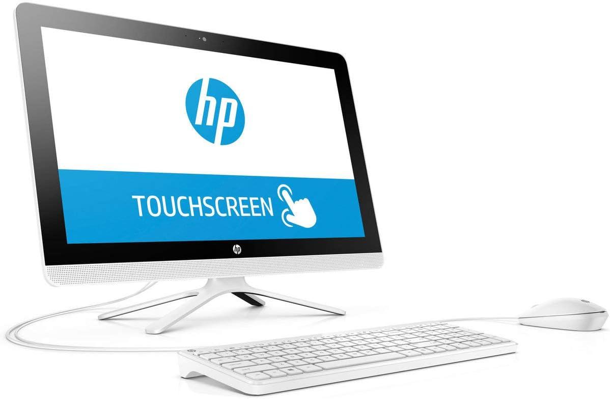 "2019 HP All-in-One 21.5"" FHD Touchscreen High Performance Desktop PC, Intel Pentium Quad-Core Processor 4GB RAM 1TB HDD HDMI DVD WiFi Bluetooth Webcam Keyboard + Mouse Windows 10, Snow White"