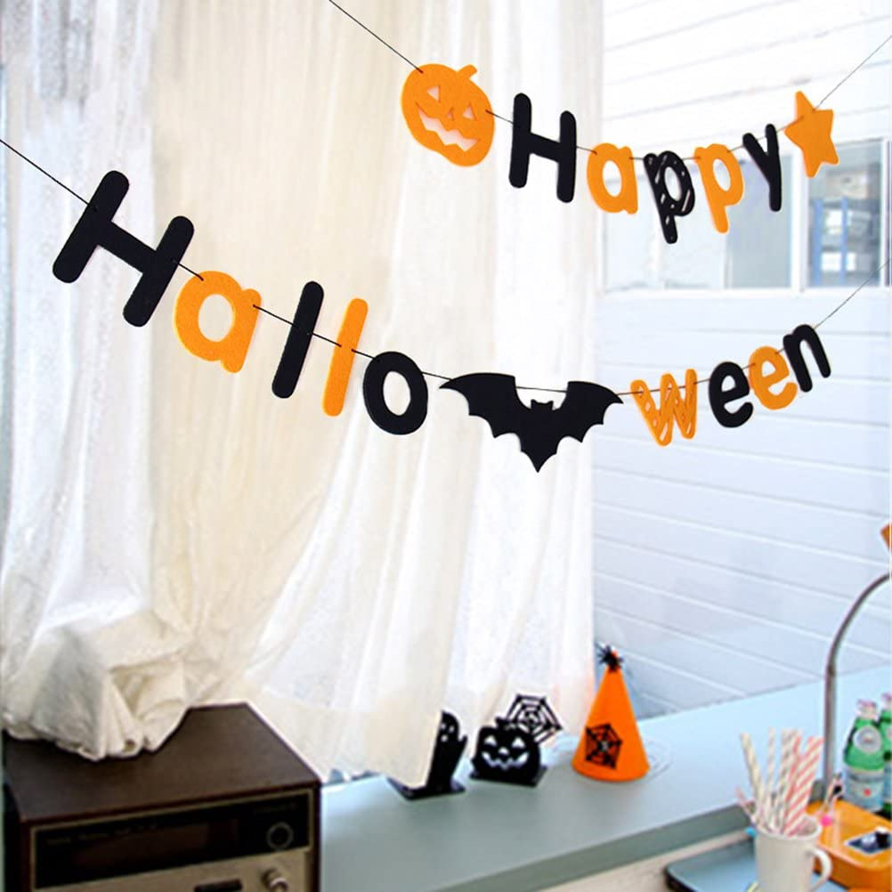 Happy Halloween Bunting Banner Halloween Party Decoration Banners