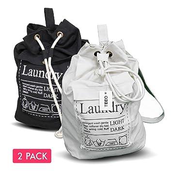Amazon.com: Bolsa de lavandería, mochila espaciosa de 25
