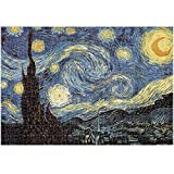 Puzzle, Adult Toy Jigsaw Puzzle Children's Puzzle Decoration Painting 3000 Pieces, World Masterpiece ( Color : Starry Sky )