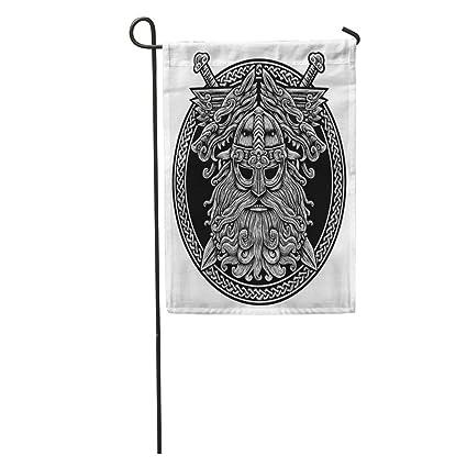 Amazon Com Semtomn Seasonal Garden Flags 28 X 40 Circle Norse