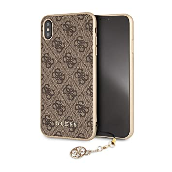 Guess Hard Case with Phone Charm iPhone XS Max Braun