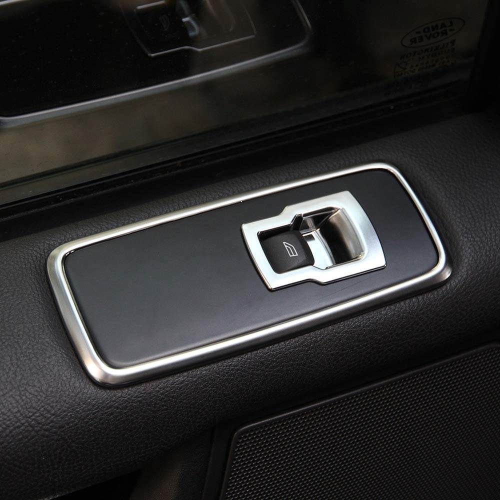 Semoic Chrome Car Door Window Switch Lift Button Cover Trim Frame for for Discovery 4 LR4 Range Rover Sport L320 Accessories 7Pcs//Set