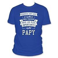 L'abricot blanc Shirt Nombreux sont Ceux Qui M'appellent par Mon Prénom mais Les Plus Importants M'appellent Papy Humour