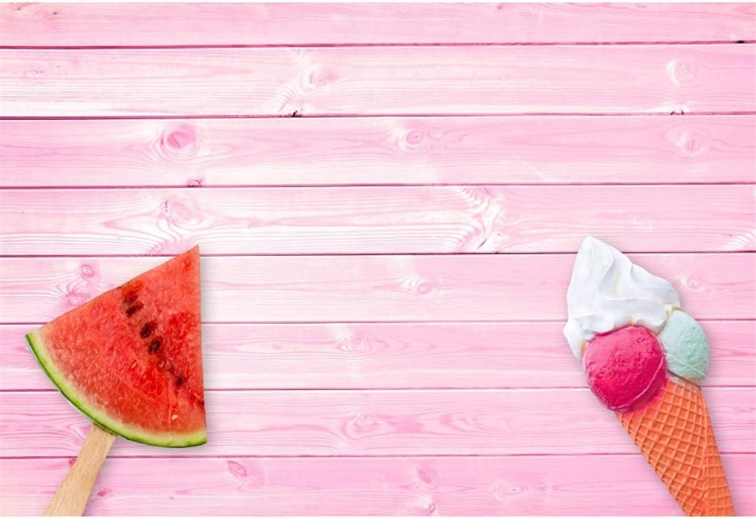 Yeele 10x8ft Ice Cream Photography Background Cartoon Summer Tropical Table and Chair Childrens Room Store Supermarket Decoration Photo Backdrop Adults Portrait