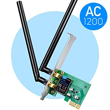 Cudy WE1200 Tarjeta WiFi PCI Express 1200Mbps (Doble Banda, 2T2R, Base Externa con Antenas, disipador pasivo Rojo, Compatible con Windows 7/8.1/10.)