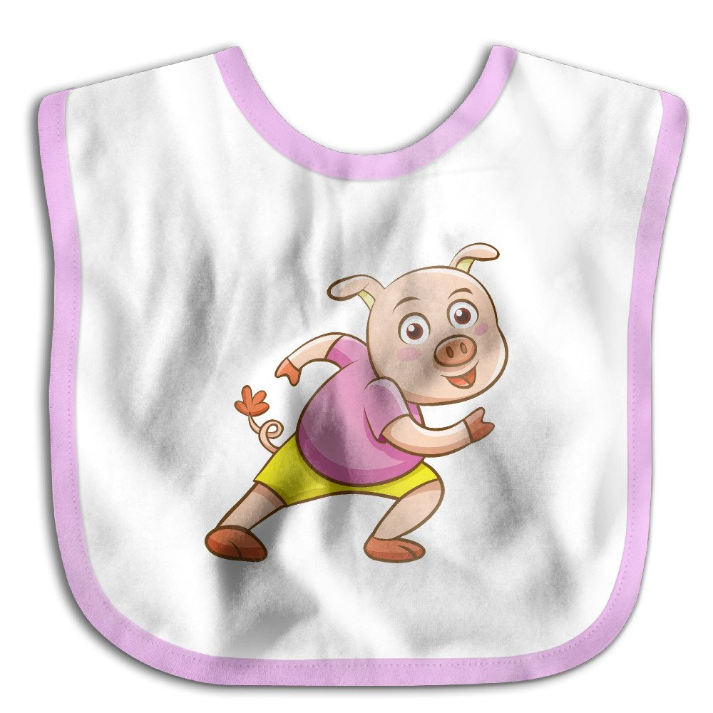 MGDBB Kids' Anti Allergic Funniest Cartoon-Pig Bandana Drool Bibs