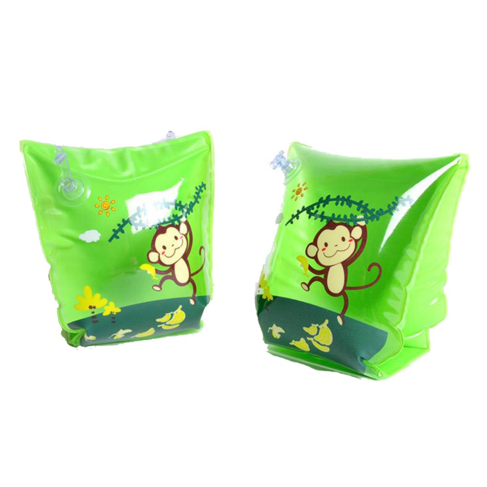 ED-Lumos Green Monkey Inflatable Baby Swim Arm Bands for Begin to Swim