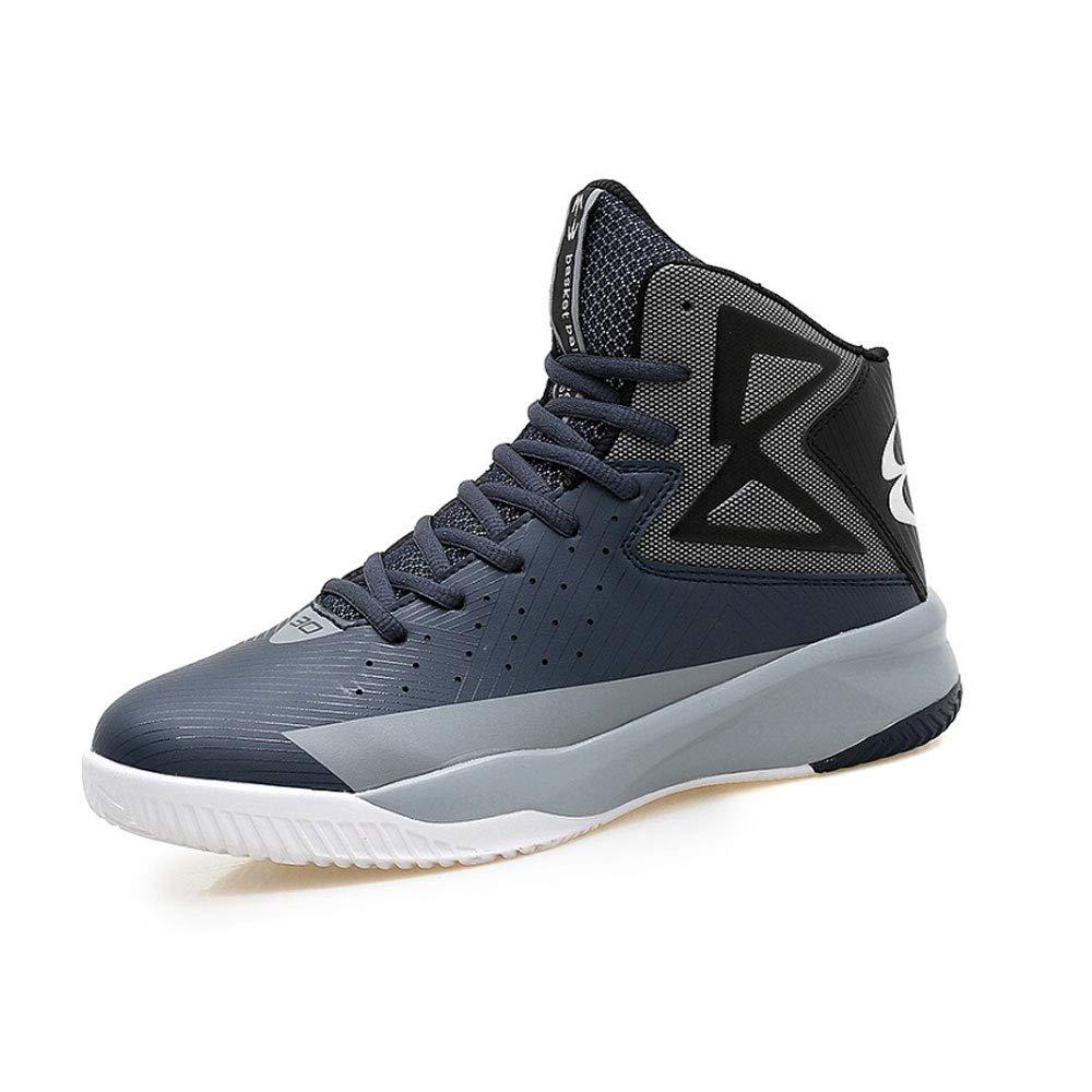 YSZDM Basketball-Schuhe, strapazierfähige, Rutschfeste High-Top-Turnschuhe Dämpfung atmungsaktive Herren Outdoor-Stiefel,Grün,43 B07MDGVJ1N Basketballschuhe Abrechnungspreis